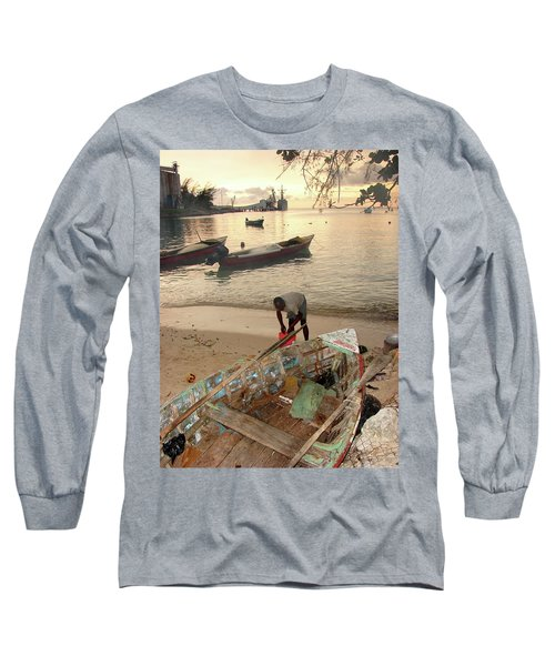 Kingston Jamaica Beach Long Sleeve T-Shirt