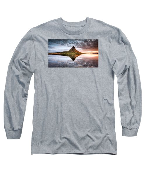 Kirkjafell Mountain Sunrise Long Sleeve T-Shirt by Brad Grove