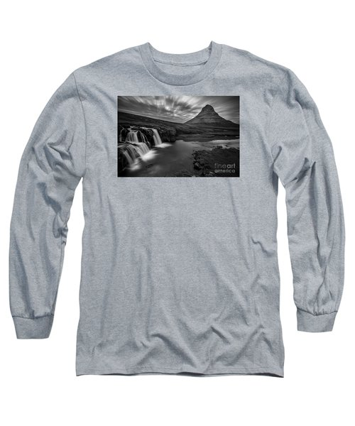 Kirkufellsfoss  Long Sleeve T-Shirt by Gunnar Orn Arnason