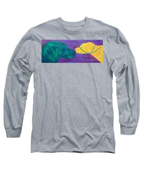 Kissing Dog Long Sleeve T-Shirt