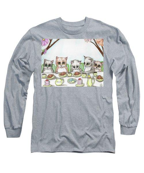 Kitten Tea Party Long Sleeve T-Shirt