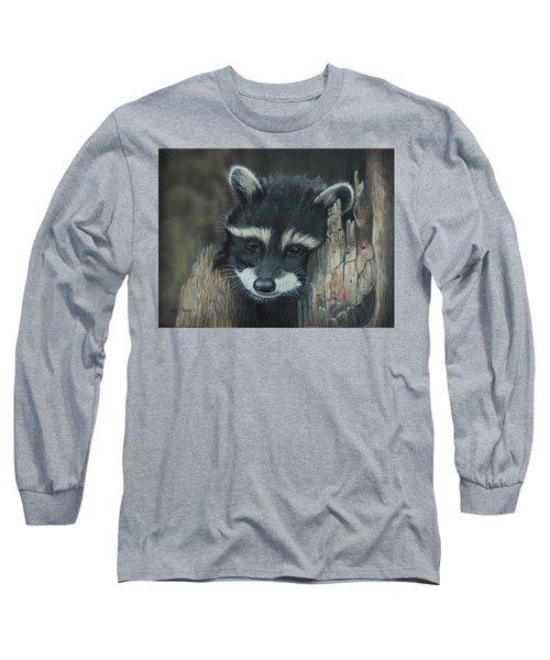 Kit...the Baby Raccoon Long Sleeve T-Shirt