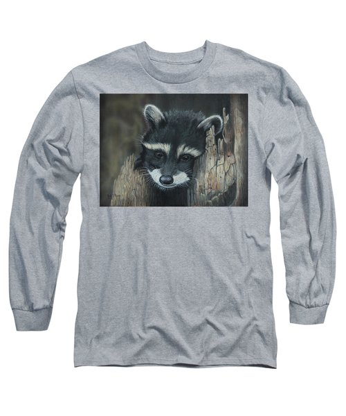 Kit...the Baby Raccoon Long Sleeve T-Shirt