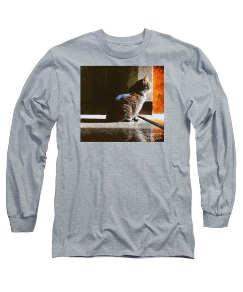 Kitty In The Light Long Sleeve T-Shirt
