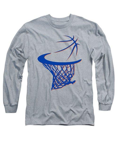 Knicks Basketball Hoop Long Sleeve T-Shirt