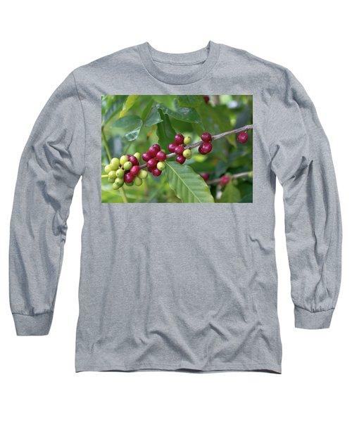 Kona Coffee Cherries Long Sleeve T-Shirt