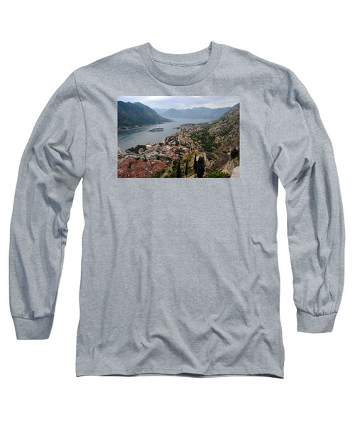 Long Sleeve T-Shirt featuring the photograph Kotor Bay by Robert Moss
