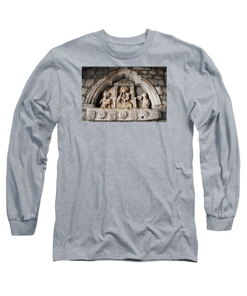 Long Sleeve T-Shirt featuring the photograph Kotor Wall Engraving by Robert Moss