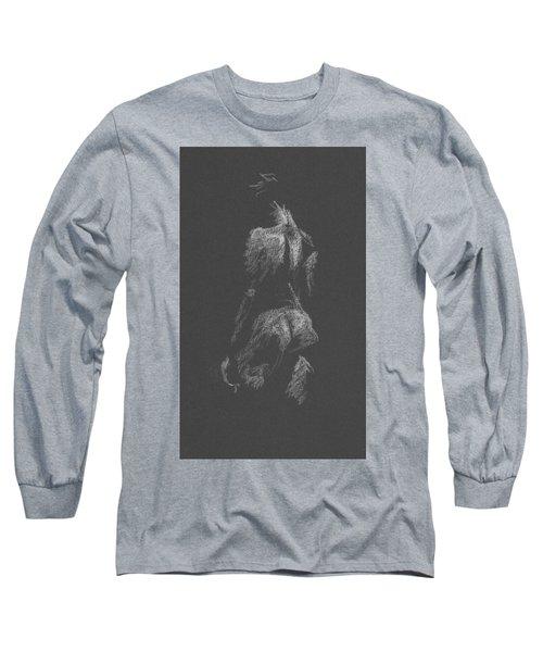 Kroki 2015 09 26 _3 Figure Drawing White Chalk Long Sleeve T-Shirt