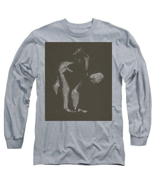 Kroki 2015 10 03_10 Figure Drawing White Chalk Long Sleeve T-Shirt