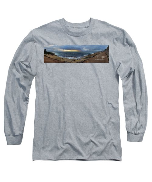 La Jolla Shores Beach Panorama Long Sleeve T-Shirt