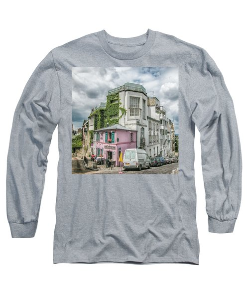 Long Sleeve T-Shirt featuring the photograph La Maison Rose by Alan Toepfer