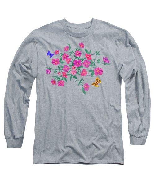 La Vie En Rose Design Long Sleeve T-Shirt by Teresa Ascone