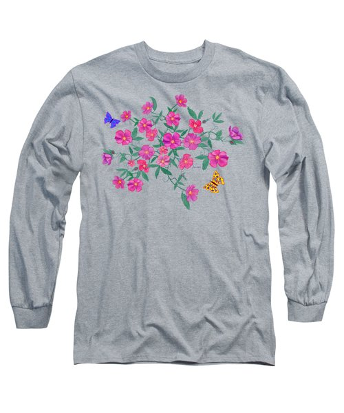 La Vie En Rose Design Long Sleeve T-Shirt