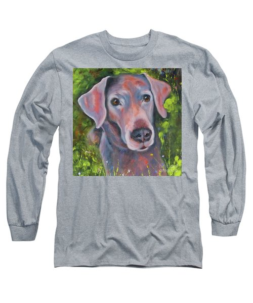 Lab In The Grass Long Sleeve T-Shirt
