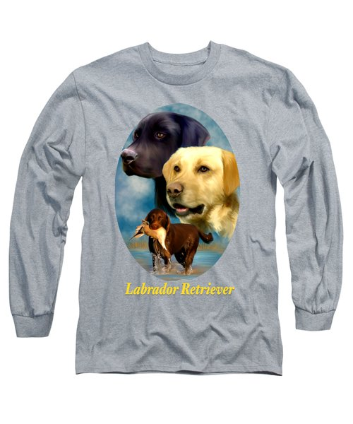 Labrador Retriever With Name Logo Long Sleeve T-Shirt
