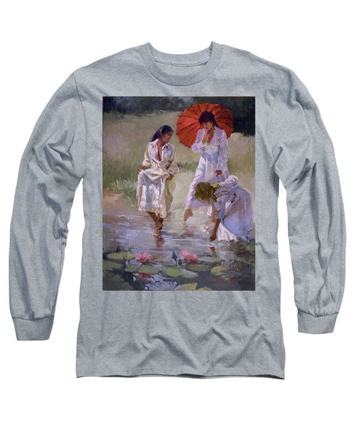 Ladies And Lilies Long Sleeve T-Shirt