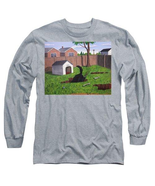 Lady Digs In The Backyard Long Sleeve T-Shirt