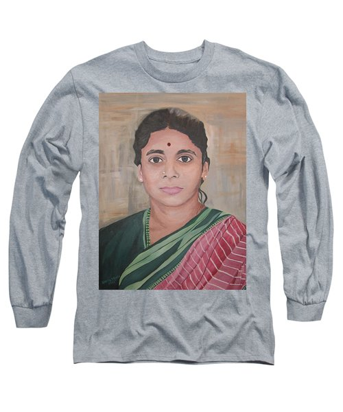 Lady From India Long Sleeve T-Shirt