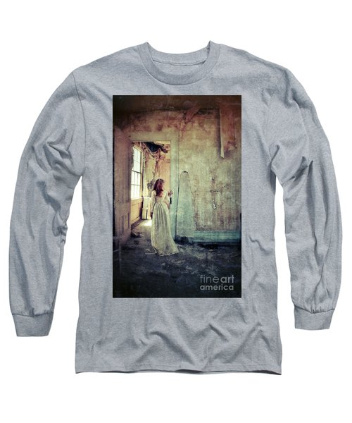Lady In An Old Abandoned House Long Sleeve T-Shirt