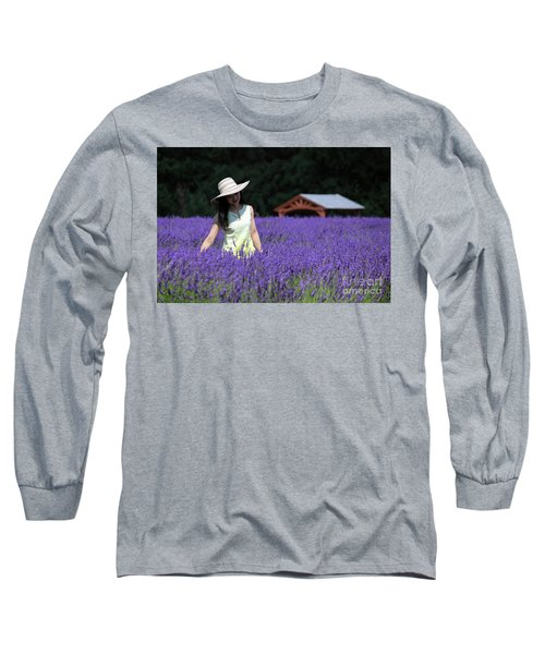 Lady In Lavender Long Sleeve T-Shirt