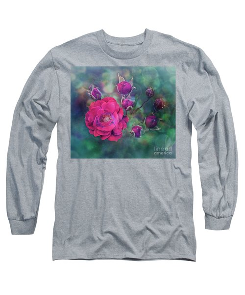 Lady Rose Long Sleeve T-Shirt by Agnieszka Mlicka