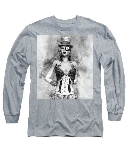 Lady Steampunk Long Sleeve T-Shirt