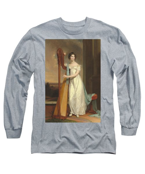 Lady With A Harp Long Sleeve T-Shirt