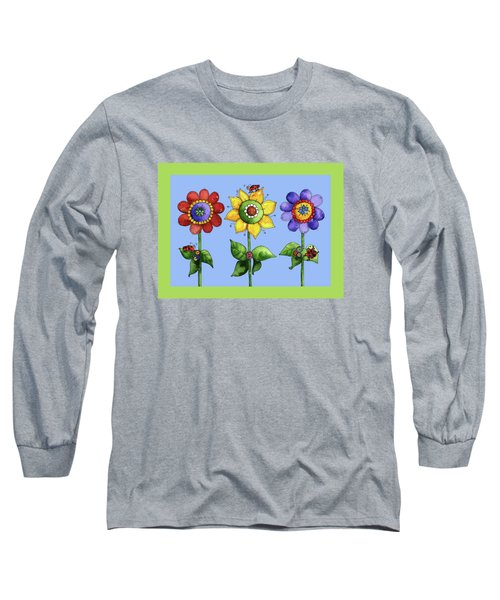 Ladybugs In The Garden Long Sleeve T-Shirt by Shelley Wallace Ylst