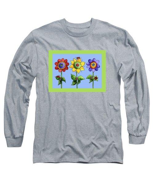 Ladybugs In The Garden Long Sleeve T-Shirt