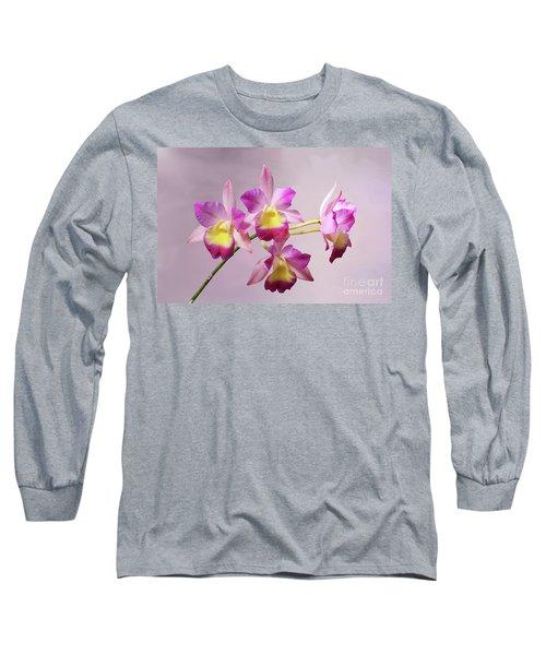 Laeliocatonia Hybrid Orchids V2 Long Sleeve T-Shirt
