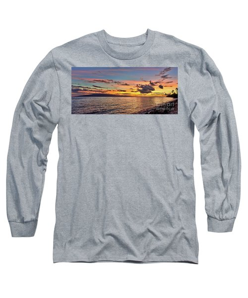Lahaina Sunset Panorama Long Sleeve T-Shirt