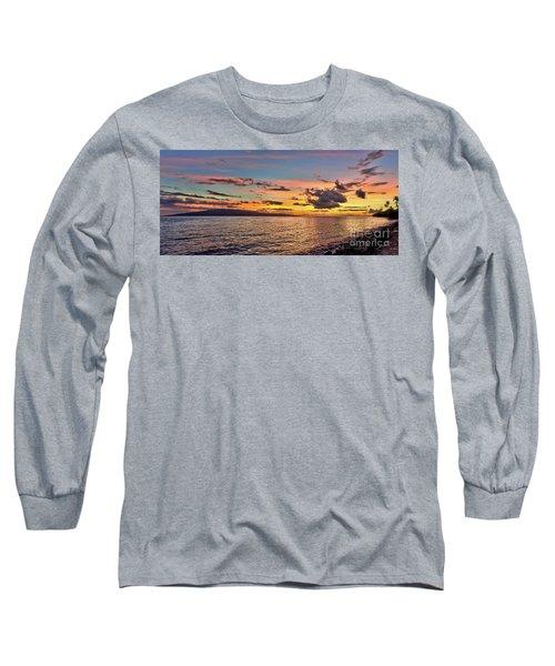 Lahaina Sunset Panorama Long Sleeve T-Shirt