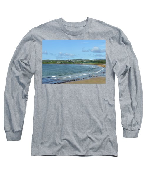 Long Sleeve T-Shirt featuring the photograph Lahinch Beach by Terence Davis