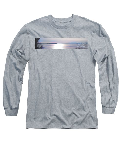 Lake Champlain South From Atop Battery Park Wall Panorama Long Sleeve T-Shirt