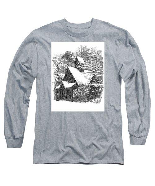 Lake Effect Snow Long Sleeve T-Shirt by Jim Rossol