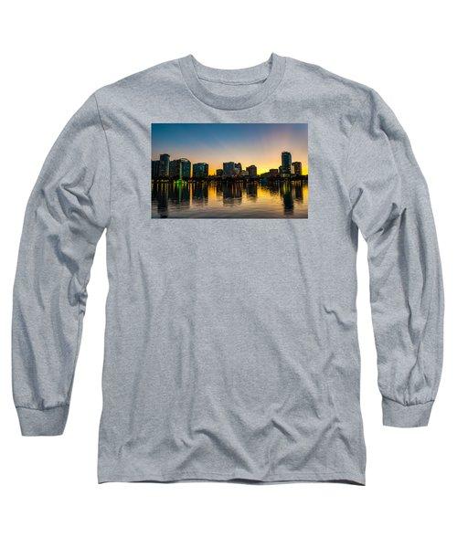 Lake Eola Sunset Long Sleeve T-Shirt