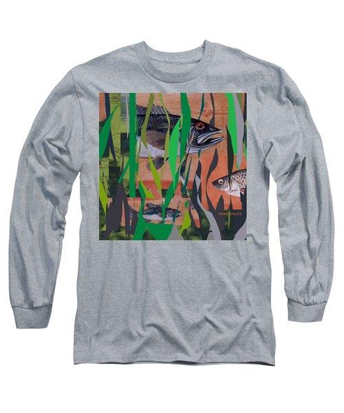Lake Habitat Long Sleeve T-Shirt by Andrew Drozdowicz