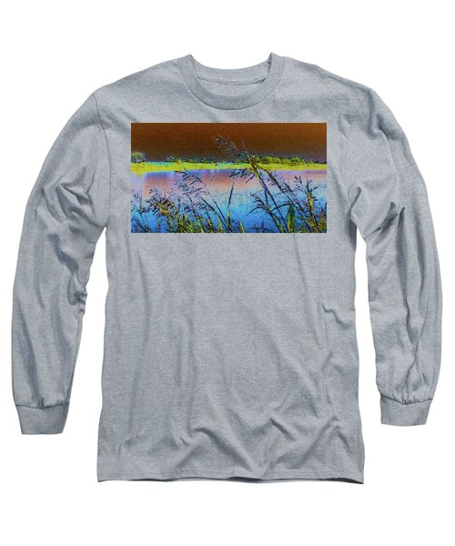 Long Sleeve T-Shirt featuring the photograph Lake II by Donna G Smith