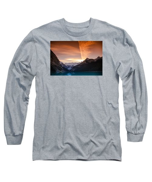Lake Louise Sunset Long Sleeve T-Shirt