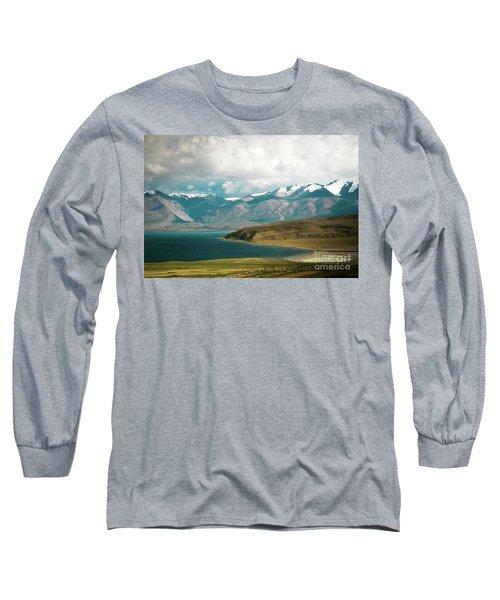 Lake Manasarovar Kailas Yantra.lv Tibet Long Sleeve T-Shirt