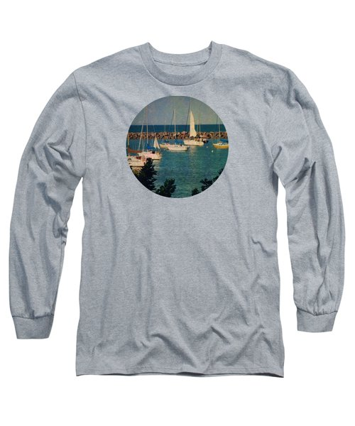 Lake Michigan Sailboats Long Sleeve T-Shirt