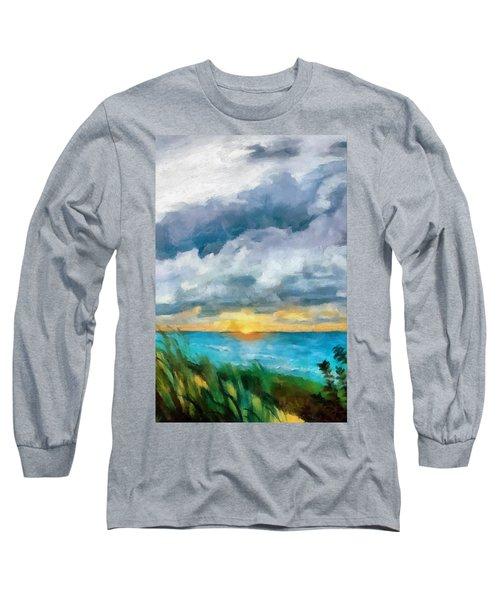 Lake Michigan Sunset Long Sleeve T-Shirt