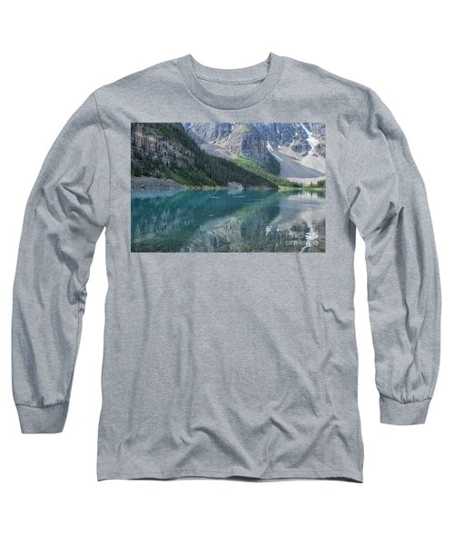Long Sleeve T-Shirt featuring the photograph Lake Moraine by Patricia Hofmeester