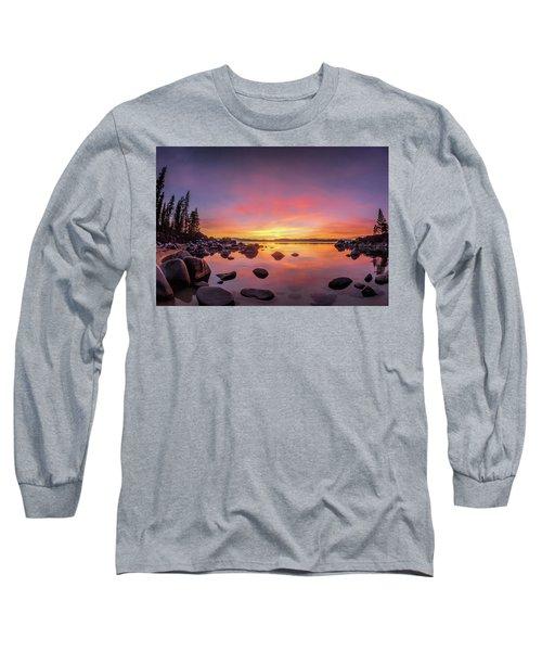 Lake Tahoe Sunset Peace Long Sleeve T-Shirt