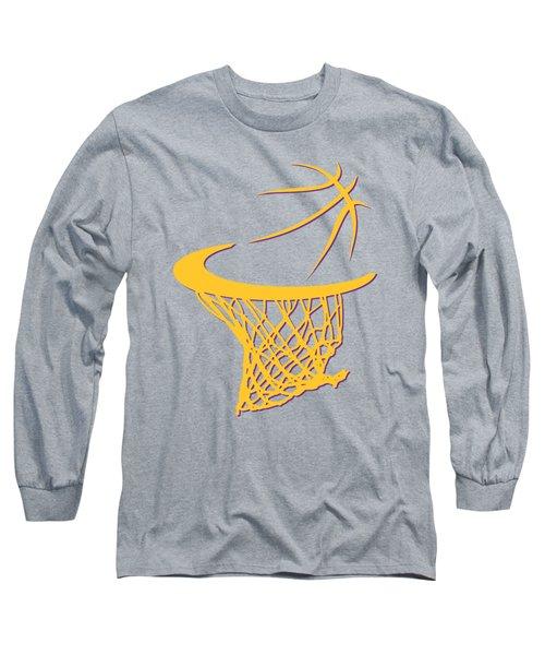 Lakers Basketball Hoop Long Sleeve T-Shirt by Joe Hamilton