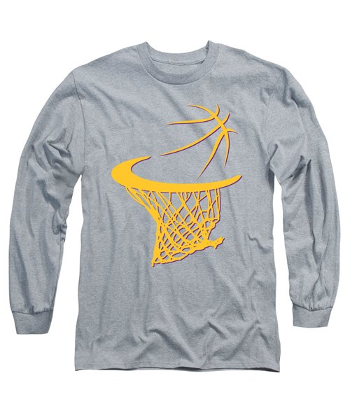 Lakers Basketball Hoop Long Sleeve T-Shirt