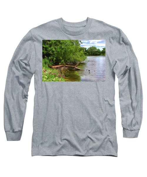 Lakeside Blossoms Long Sleeve T-Shirt