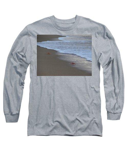 Lamu Island - Crabs Playing At Sunset 4 Long Sleeve T-Shirt