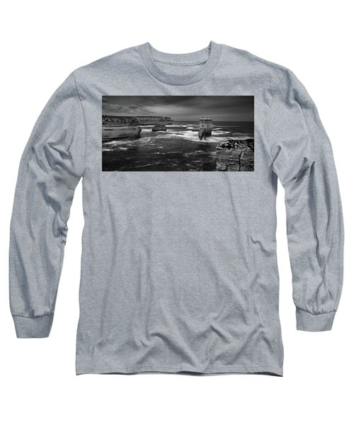 Land And Sea Long Sleeve T-Shirt by Mark Lucey